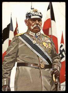 3rd Reich Germany Hohlwein General Hindenburg Nazi Veterans Propaganda Car 91004