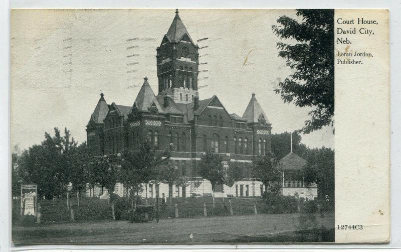 Court House David City Nebraska 1910 postcard