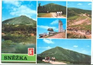 Czech Republic , SNEZKA, Highest peak of the Mountains, unused Postcard