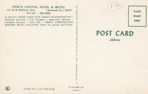LAKEWOOD , New Jersey , 1950-60s ; Post's Capitol Hotel & Motel