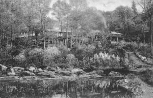 Rutland Vermont Long Trail Lodge Green Mt Club Antique Postcard K87745