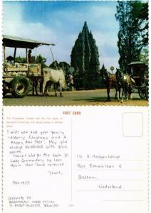 CPM The Prambanan Temple and the two types of transports INDONESIA (730190)