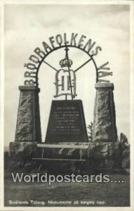 Smalands Taberg, Monumnete pa Bergets topp Sweden 1939