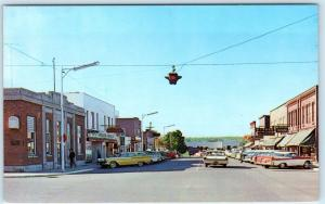 L'ANSE, Michigan  MI    MAIN STREET Scene  1962  Upper Peninsula   Postcard