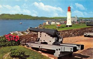 Vintage 1973 Postcard Plymouth Hoe from Royal Citadel. Lighthouse, Devon #220