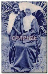 Postcard Old Missions & # 39Afrique Double smile
