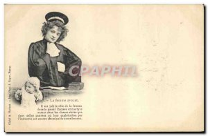Old Postcard Fantasy Children Doll Woman lawyer It is nice the role of women ...