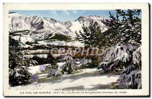 Old Postcard Worthy Road has Seyne The Moor Pass in winter and snow fields