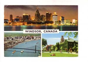 Threeview, Bridge, Night Skyline, University, Windsor, Ontario, Ludwig, Hinde