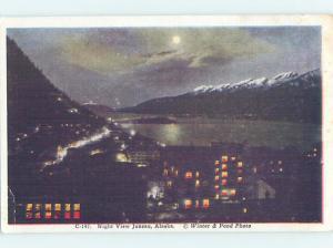 Unused Linen PANORAMIC VIEW Juneau Alaska AK i0303