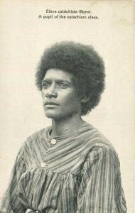 PC CPA PAPUA NEW GUINEA, ÉLÉVE CATÉCHISTE RORO, Vintage Postcard (b19762)