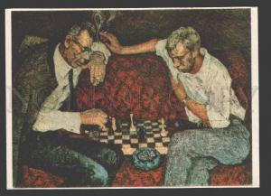 108925 Chess Players by WAINSTEIN artist Old RUSSIAN PC