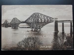 Forth Bridge showing Steam Locomotive c1920