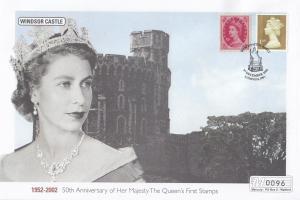 Windsor Castle Queen Elizabeth II Golden Jubilee Rare Stamp 50th Anniversary FDC