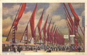 Avenue of flags Chicago Worlds Fair 1933, Exposition Postcard Post Card  Aven...