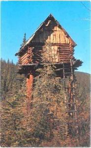 Trapper's Cache near Circle City Alaska AK 1978