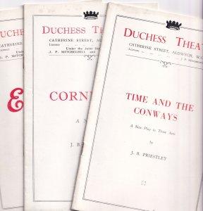 JB Priestley Time & The Conways Drama Cornelius Duchess 3x Theatre Programme s