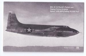 Mutoscope Jet Bell X-1A High Speed Rocket Research Aircraft