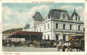 brazil, SANTOS, Estação, Railway Company Station (1910s)