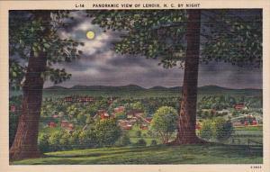 By Night Panoramic View Of Lenoir North Carolina