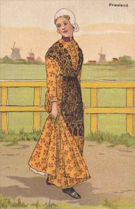 Netherlands Friesland Girl In typical Costume