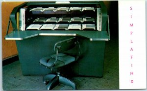 White Plains, New York Advertising Postcard SIMPLAFIND Filing System Wheeldex