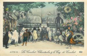 France theatre costumes Chantecler de M. Edmond Rostand Le Coq de Combat