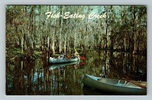 Palmdale FL-Florida, Canoeing, Fish-eating Creek, Chrome Postcard