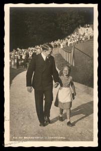 3rd Reich Germany Adolf Hitler and Bernile Nienau Hoffmann Portrait  RPPC 91559