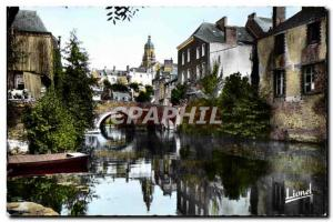 Postcard Modern Segre (Maine et Loire) The Old Bridge On I Oudon