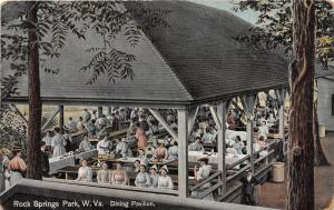 E70/ Chester W Va Postcard Rock Springs Amusement Park 1909 Dining Pavilion 14