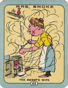 Carreras Vintage Cigarette Card N0 44 Mrs Smoke The Sweeps Wife