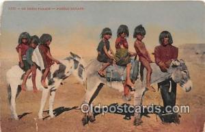 Dress Parade Pueblo Indians Postcard Post Cards Pueblo Indians Dress Parade