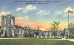 Science Quadrangle, Duke University in Durham, North Carolina