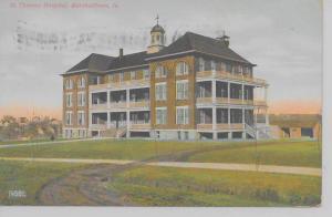 Marshalltown Iowa bird's eye view St Thomas Hospital antique pc (Z10368)