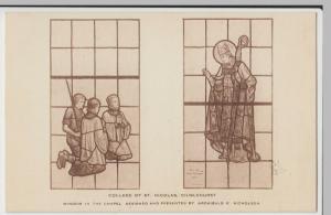 London; College Of St Nicholas, Chislehurst, Window In The Chapel PPC Unused