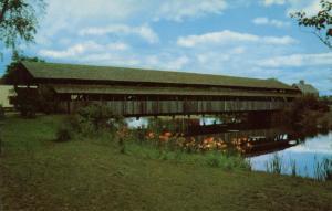 VT - Shelburne. Covered Bridge at Shelburne Museum