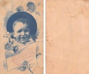 Approx Size Inches = 2.75 x 4.50 Trade Card Unused