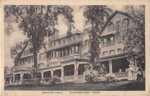 Stockbridge Massachusetts Heaton Hall Antique Postcard J51428