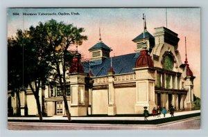 Ogden UT-Utah, Colorful Mormon Tabernacle, Children, Vintage Postcard