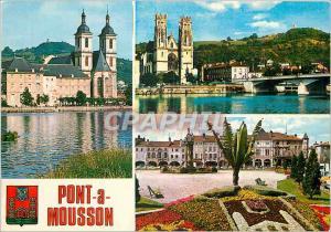 Postcard Modern Bridge Mousson Meurthe et Moselle The former abbey of Premont...