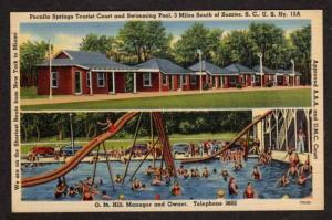 SC Pocalla Springs Motel Pool SUMTER SOUTH CAROLINA PC