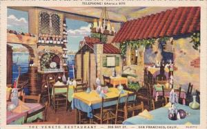 The Veneto Restaurant San Francisco California