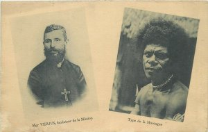 Oceania missionary Mgr Verjus New Guinea mission founder & native type