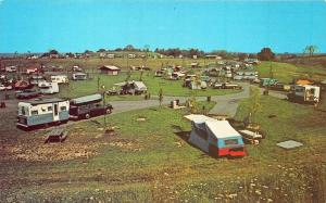 Zanesville OH Campgrounds Early RV's Tents Postcard