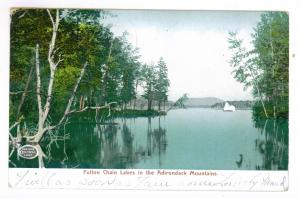East Galway to Broadalbin, New York 1906 used Postcard, Fulton Chain Lakes
