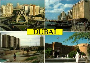 PC CPA U.A.E. , DUBAI, SCENES FROM DUBAI, REAL PHOTO POSTCARD (b16385)