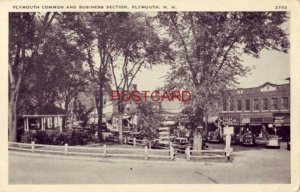 PLYMOUTH COMMON AND BUSINESS SECTION, Plymouth, N. H. circa 1940