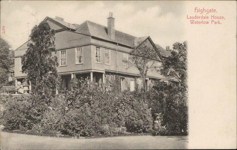 Highgate Lauderdale House Waterlow Park vintage old 1906