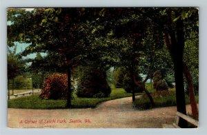 Seattle WA-Washington, Scenic Corner Of Leschi Park, Walkway, Vintage Postcard